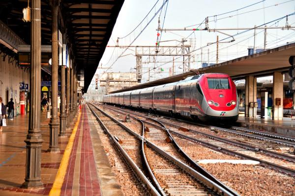 Frecciarossa train at Bologna station
