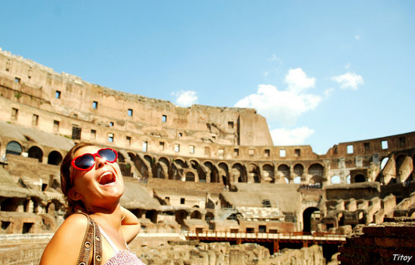 Enjoying Rome's Colosseum