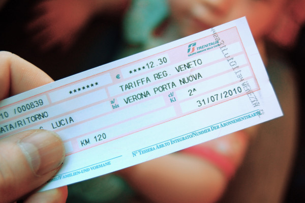 Italian train ticket