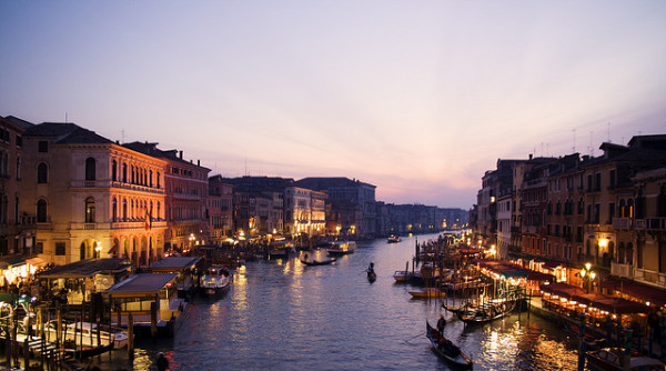 Venice at night :: creative commons photo by Iselin