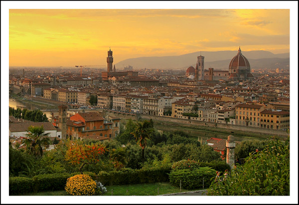Sunset over Florence - by Steve (creative commons)
