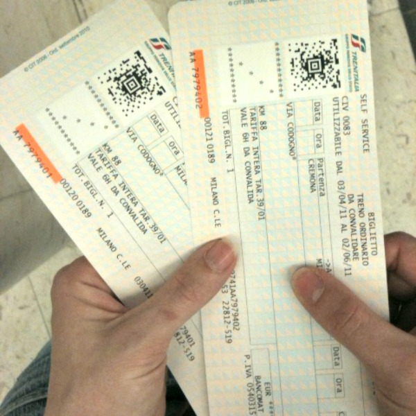 Train tickets in Italy - by Alessandra Cimatti (creative commons)