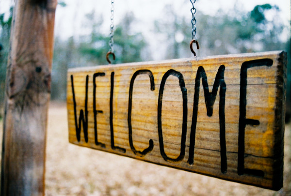 Welcome - by Nathan (creative commons)