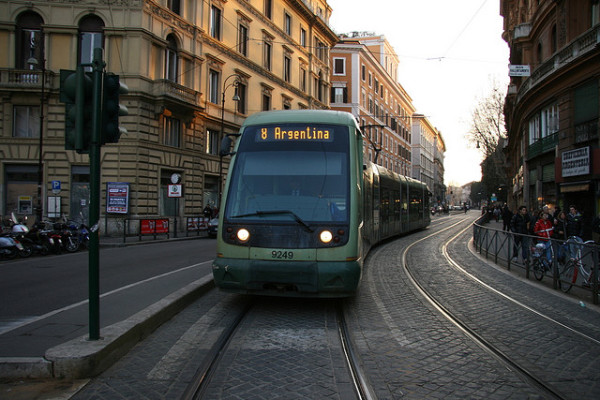 Tram in Rome - by RaSeLaSeD (creative commons)