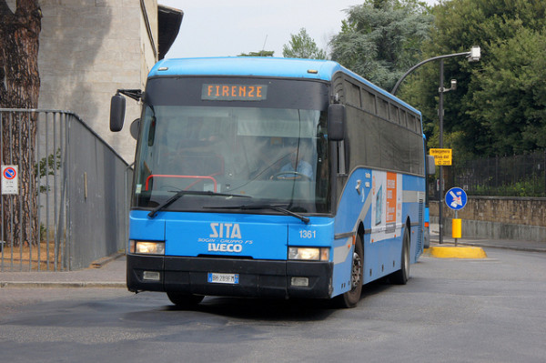 SITA bus in Tuscany | creative commons photo by Chris Sampson