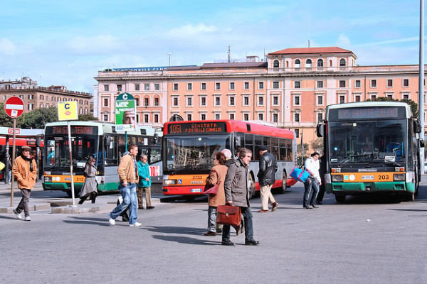 Bus terminal in Rome | creative commons photo by ludovic