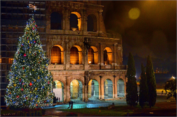 Christmas at the Colosseum || creative commons photo by George Rex