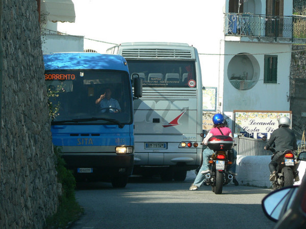 Buses on the Amalfi Coast - by Jake&Brady (creative commons)