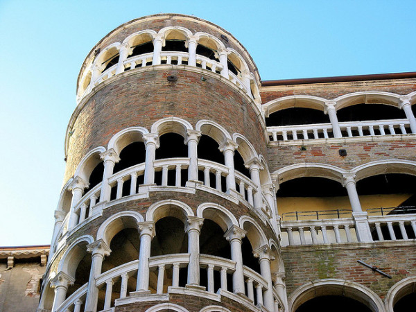 Bovolo Staircase || creative commons photo by Anna Fox