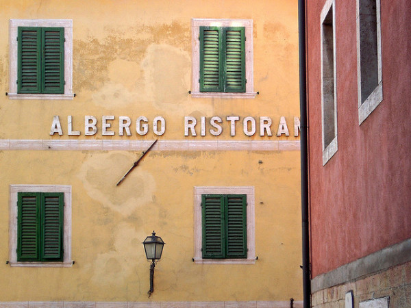 Albergo Ristorante || creative commons photo by Marco Bellucci