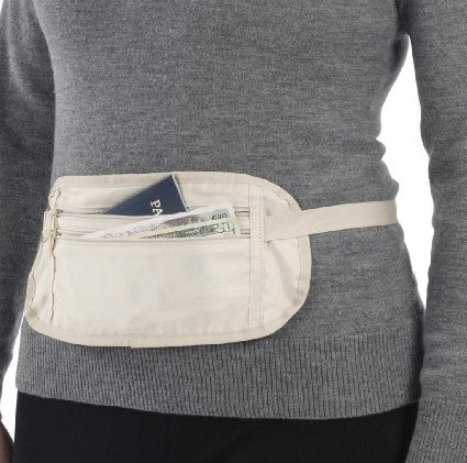 Do not wear the money belt like this, you guys.