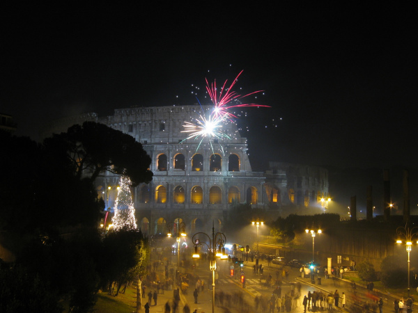 New Year's at the Colosseum in Rome || creative commons photo by Luca Paletta