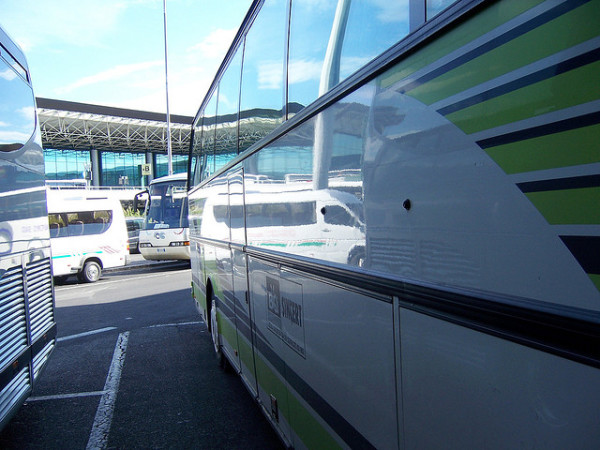 Fiumicino Buses || creative commons photo by Sky Eckstrom