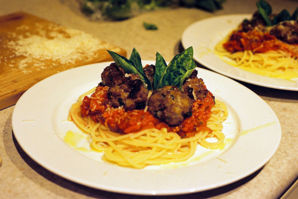 American spaghetti & meatballs || creative commons photo by Taz