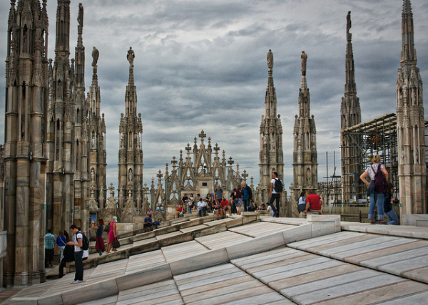 Milan Duomo Roof || creative commons photo by David Davies