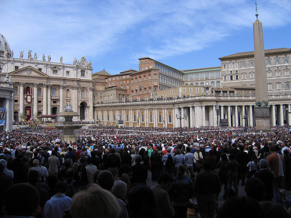 Easter Mass in St. Peter's Square || creative commons photo by Jon Connell