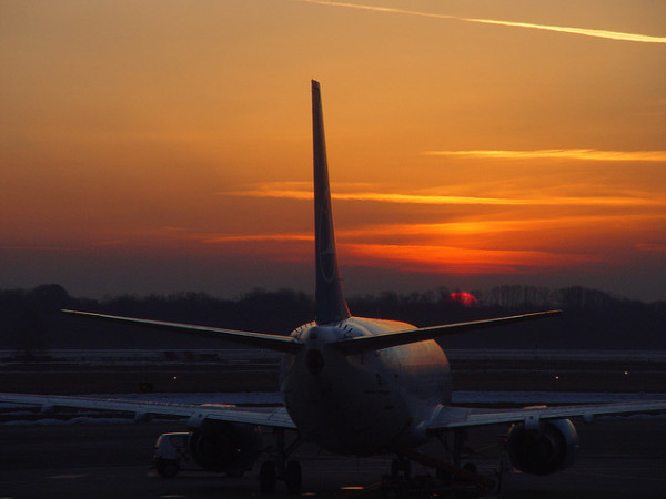 Sunrise at Malpensa || creative commons photo by Franco Folini