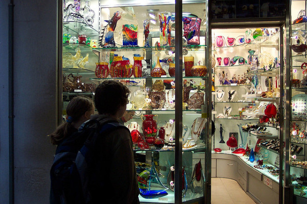 Even in Venice, you need to be careful of buying fake Murano glass || creative commons photo by Christina