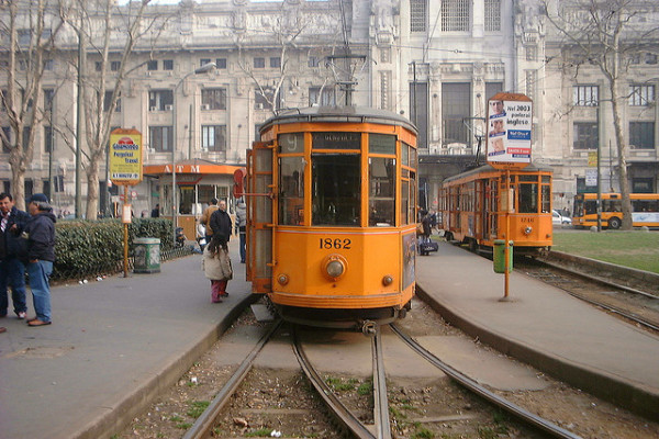 Milan tram || creative commons photo by LHOON