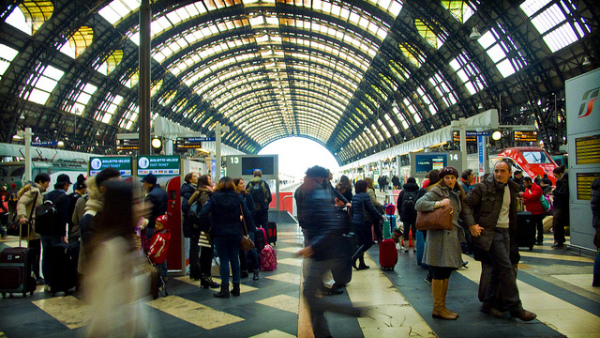 Milan Centrale, your starting point for many day trips || creative commons photo by Paolo Gamba