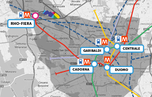 The Expo 2015 grounds share the Rho-Fiera transit stops