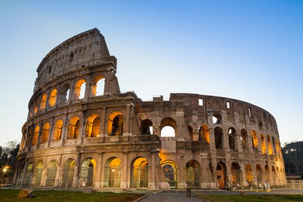 Colosseum at night    creative commons photo by Umberto Rotundo