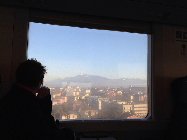 Watching Italy go by from the train || creative commons photo by Rhonda Oglesby