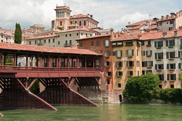 Palladio's bridge in Bassano del Grappa || creative commons photo by Graeme Churchard