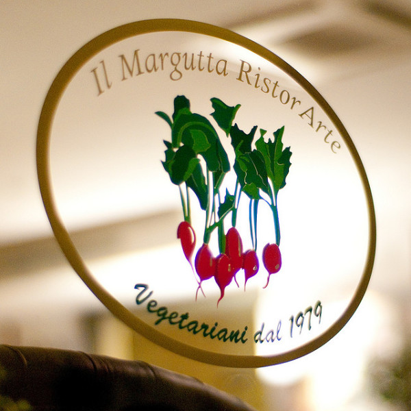 A vegetarian restaurant in Rome    creative commons photo by Joi Ito