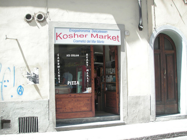 Kosher market in Florence || creative commons photo by Fooding Around