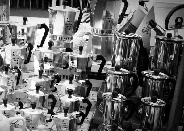 Moka pots || creative commons photo by Maggie