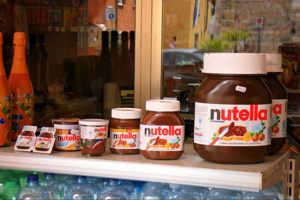 Nutella jars, including the small glass, third option from left || creative commons photo by Thomas Kohler