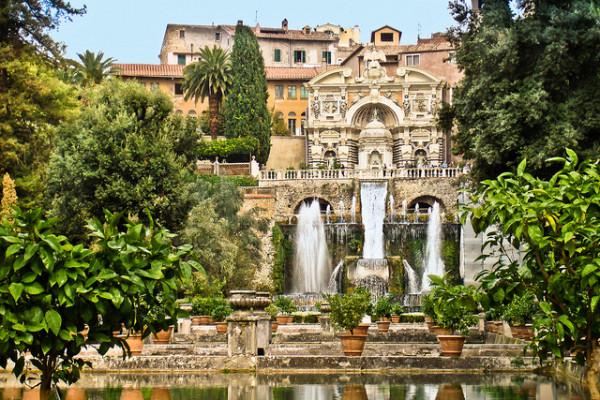Villa d'Este at Tivoli || creative commons photo by M.Maselli