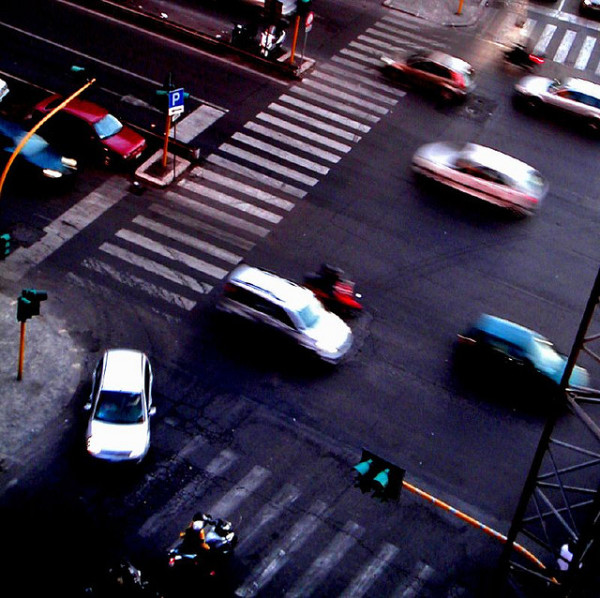 Intersection in Rome || creative commons photo by Mb