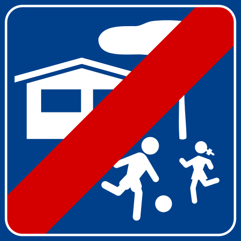 "Italian ""Home Zone"" sign"