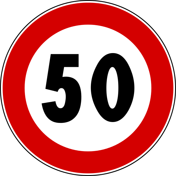 Italian speed limit sign
