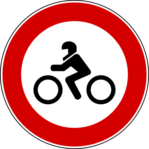 Italian no motorcycles sign