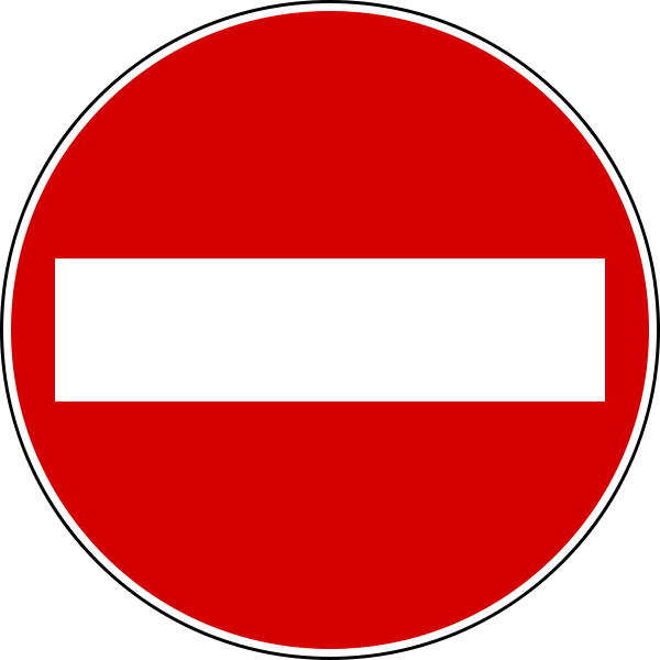 Italian do not enter sign