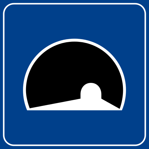 Italian tunnel sign
