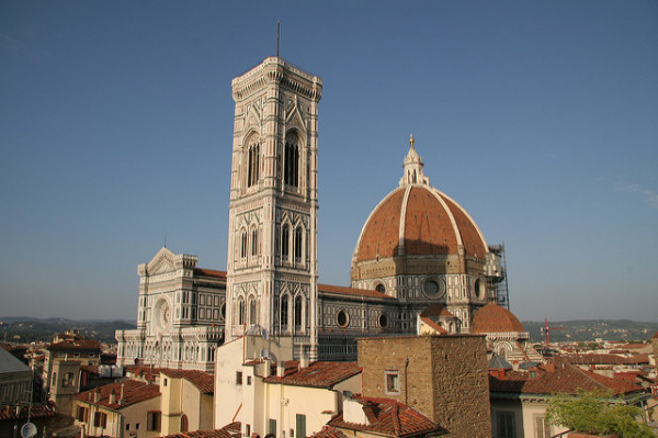 View of Florence Duomo from hotel || creative commons photo by markjhandel