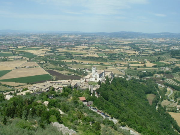 Overlooking the Basilica of St. Francis in Assisi || creative commons photo by John W. Schulze