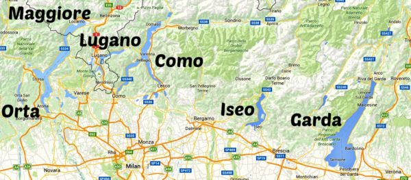 map of italian lake district Italian Lakes Region Italy Explained map of italian lake district