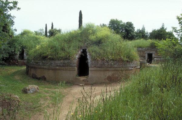 Banditaccia Necropolis, Cerveteri || creative commons photo by MCAD Library