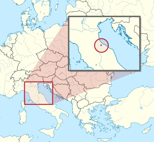 San Marino location in Italy || creative commons image by TUBS