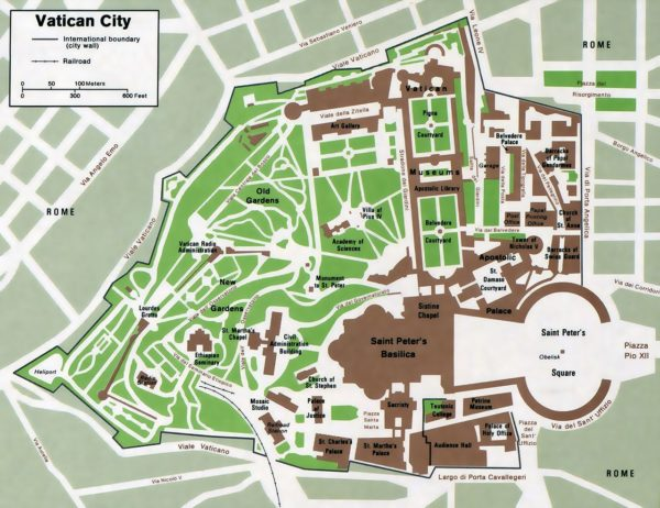 Vatican City map || public domain image