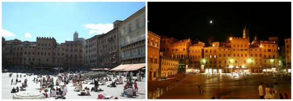 Siena || creative commons photos by Sergio Del Piccolo (left) & Gianni (right)
