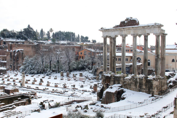 Forum in the snow || creative commons photo by Stefano Costantini