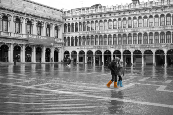 Flooding in St. Mark's Square || creative commons photo by Francesca Cappa
