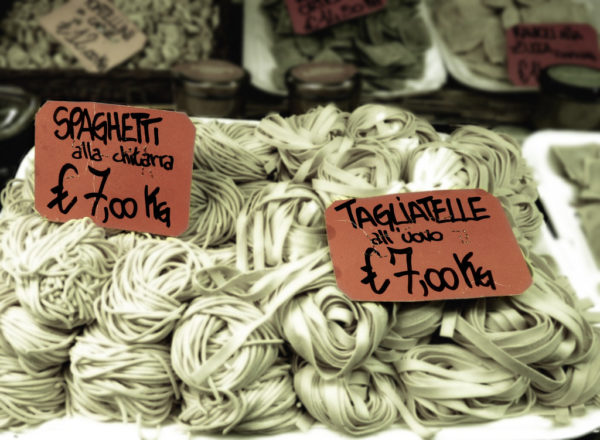 Pasta for sale || creative commons photo by Rachel Titiriga