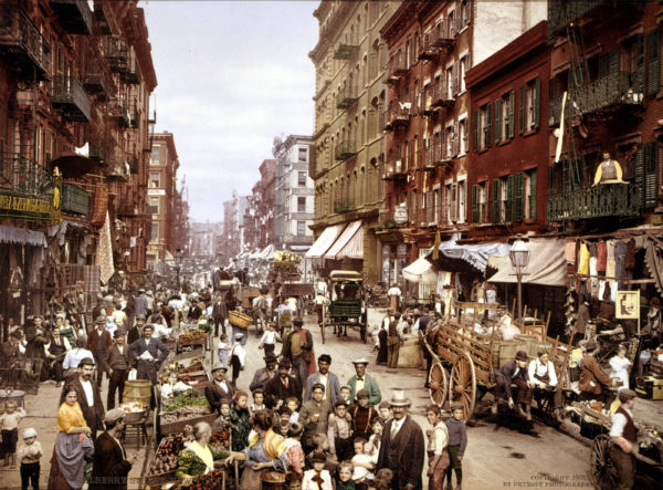 Little Italy in New York's Lower East Side, circa 1900 (US Library of Congress)